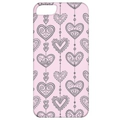 Sketches Ornamental Hearts Pattern Apple iPhone 5 Classic Hardshell Case