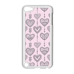 Sketches Ornamental Hearts Pattern Apple iPod Touch 5 Case (White)