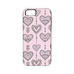 Sketches Ornamental Hearts Pattern Apple iPhone 5 Classic Hardshell Case (PC+Silicone)