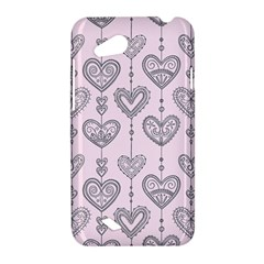 Sketches Ornamental Hearts Pattern HTC Desire VC (T328D) Hardshell Case