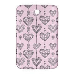 Sketches Ornamental Hearts Pattern Samsung Galaxy Note 8.0 N5100 Hardshell Case