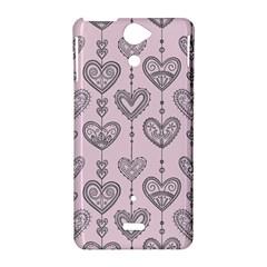 Sketches Ornamental Hearts Pattern Sony Xperia V