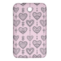 Sketches Ornamental Hearts Pattern Samsung Galaxy Tab 3 (7 ) P3200 Hardshell Case