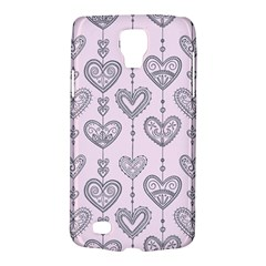Sketches Ornamental Hearts Pattern Galaxy S4 Active