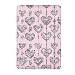 Sketches Ornamental Hearts Pattern Samsung Galaxy Tab 2 (10.1 ) P5100 Hardshell Case