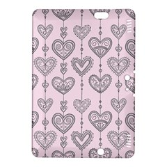 Sketches Ornamental Hearts Pattern Kindle Fire HDX 8.9  Hardshell Case