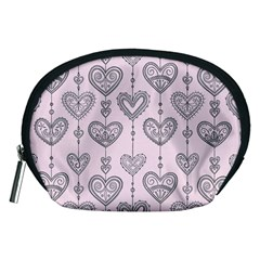 Sketches Ornamental Hearts Pattern Accessory Pouches (Medium)