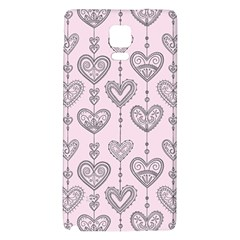 Sketches Ornamental Hearts Pattern Galaxy Note 4 Back Case