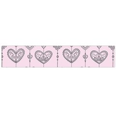 Sketches Ornamental Hearts Pattern Flano Scarf (Large)