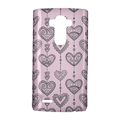 Sketches Ornamental Hearts Pattern LG G4 Hardshell Case
