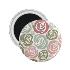 Retro Elegant Floral Pattern 2 25  Magnets