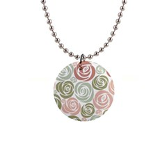 Retro Elegant Floral Pattern Button Necklaces