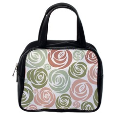 Retro Elegant Floral Pattern Classic Handbags (one Side)