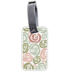 Retro Elegant Floral Pattern Luggage Tags (Two Sides)