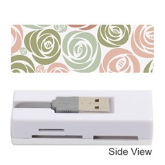 Retro Elegant Floral Pattern Memory Card Reader (Stick)