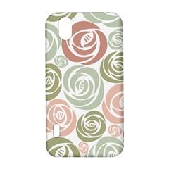 Retro Elegant Floral Pattern LG Optimus P970