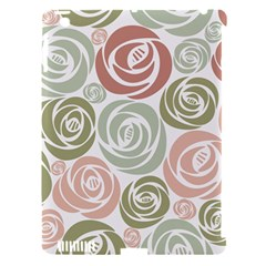 Retro Elegant Floral Pattern Apple iPad 3/4 Hardshell Case (Compatible with Smart Cover)