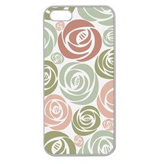 Retro Elegant Floral Pattern Apple Seamless iPhone 5 Case (Clear)