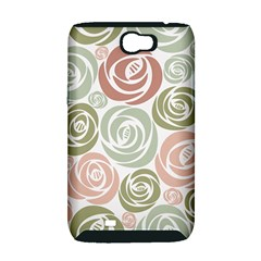 Retro Elegant Floral Pattern Samsung Galaxy Note 2 Hardshell Case (PC+Silicone)