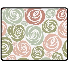 Retro Elegant Floral Pattern Double Sided Fleece Blanket (Medium)