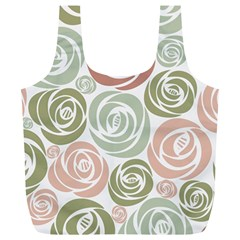 Retro Elegant Floral Pattern Full Print Recycle Bags (L)