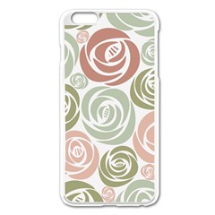 Retro Elegant Floral Pattern Apple iPhone 6 Plus/6S Plus Enamel White Case