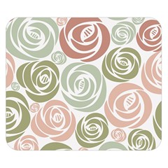 Retro Elegant Floral Pattern Double Sided Flano Blanket (Small)
