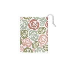 Retro Elegant Floral Pattern Drawstring Pouches (xs)