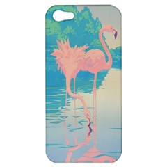 Two Pink Flamingos Pop Art Apple Iphone 5 Hardshell Case