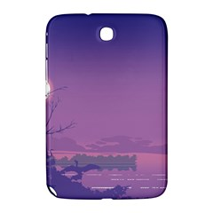 Abstract Tropical Birds Purple Sunset  Samsung Galaxy Note 8 0 N5100 Hardshell Case