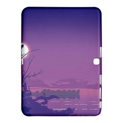 Abstract Tropical Birds Purple Sunset  Samsung Galaxy Tab 4 (10 1 ) Hardshell Case