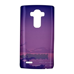 Abstract Tropical Birds Purple Sunset  LG G4 Hardshell Case