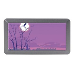 Abstract Tropical Birds Purple Sunset Memory Card Reader (mini)