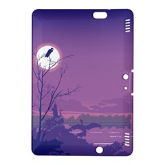 Abstract Tropical Birds Purple Sunset Kindle Fire Hdx 8 9  Hardshell Case