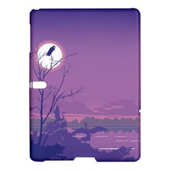 Abstract Tropical Birds Purple Sunset Samsung Galaxy Tab S (10 5 ) Hardshell Case