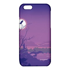 Abstract Tropical Birds Purple Sunset iPhone 6/6S TPU Case
