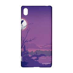 Abstract Tropical Birds Purple Sunset Sony Xperia Z3+