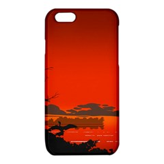 Tropical Birds Orange Sunset Landscape iPhone 6/6S TPU Case