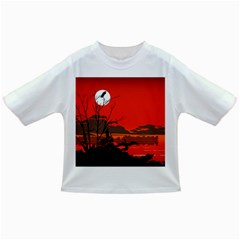 Tropical Birds Orange Sunset Landscape Infant/toddler T Shirts