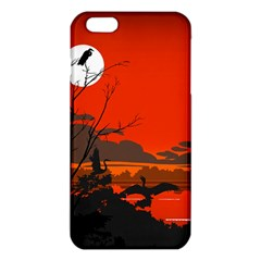 Tropical Birds Orange Sunset Landscape iPhone 6 Plus/6S Plus TPU Case