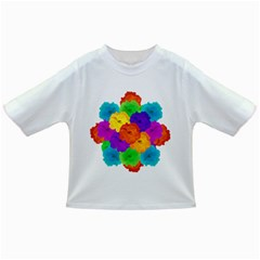 Flowes Collage Ornament Infant/toddler T Shirts