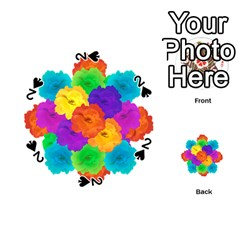 Flowes Collage Ornament Playing Cards 54 (round)