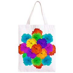 Flowes Collage Ornament Classic Light Tote Bag
