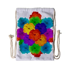 Flowes Collage Ornament Drawstring Bag (small)