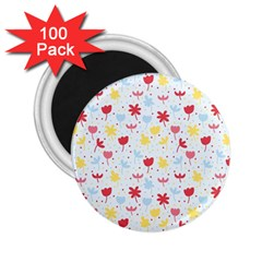 Seamless Colorful Flowers Pattern 2.25  Magnets (100 pack)
