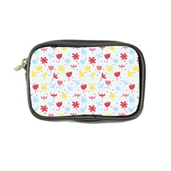Seamless Colorful Flowers Pattern Coin Purse