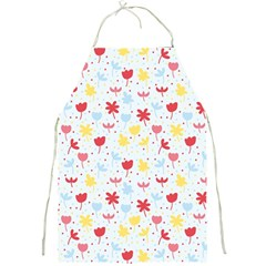 Seamless Colorful Flowers Pattern Full Print Aprons