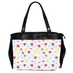 Seamless Colorful Flowers Pattern Office Handbags (2 Sides)