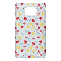 Seamless Colorful Flowers Pattern Samsung Galaxy S2 i9100 Hardshell Case
