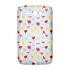 Seamless Colorful Flowers Pattern HTC ChaCha / HTC Status Hardshell Case